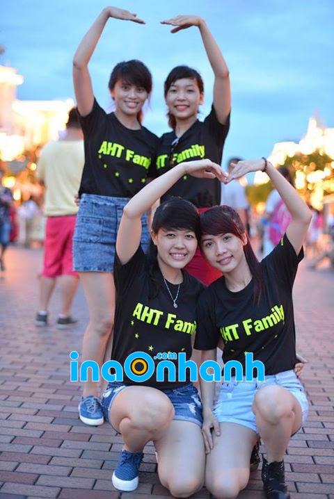 Khách hàng - Công ty AHT in áo thun đen bằng decal nhiệt tại InAnhNhanh.com